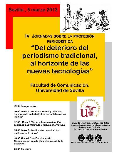 Cartel de las jornadas de Sevilla