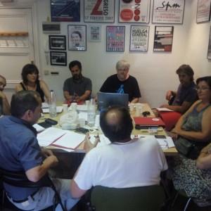 Reunión de Junta Ejecutiva de la FeSP, septiembre 2015.