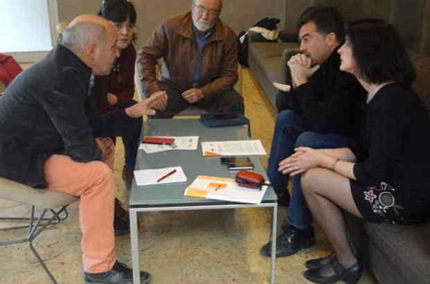 Entrevista con Antonio Maillo (IU) de miembros de la ejecutiva andaluza del SPA