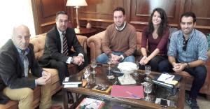 Sindicato Periodistas de Andalucía con Subdelegado Gobierno Málaga