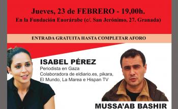 CONFERENCIA PERIODISMO GAZA Granada 23 febrero