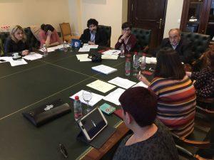 Reunión del jurado en el Rectorado de la Universidad de Córdoba.