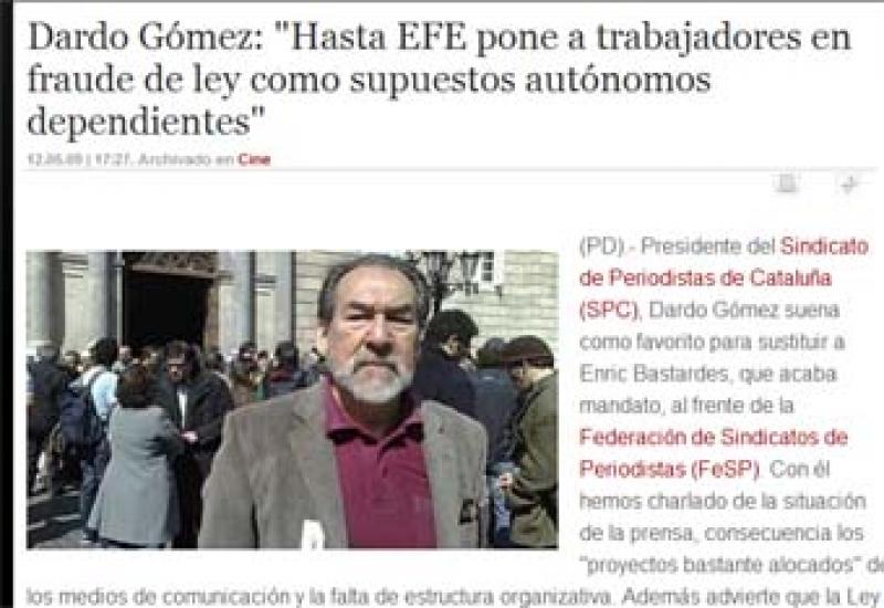Imagen de la entrevista realizada a Dardo Gómez