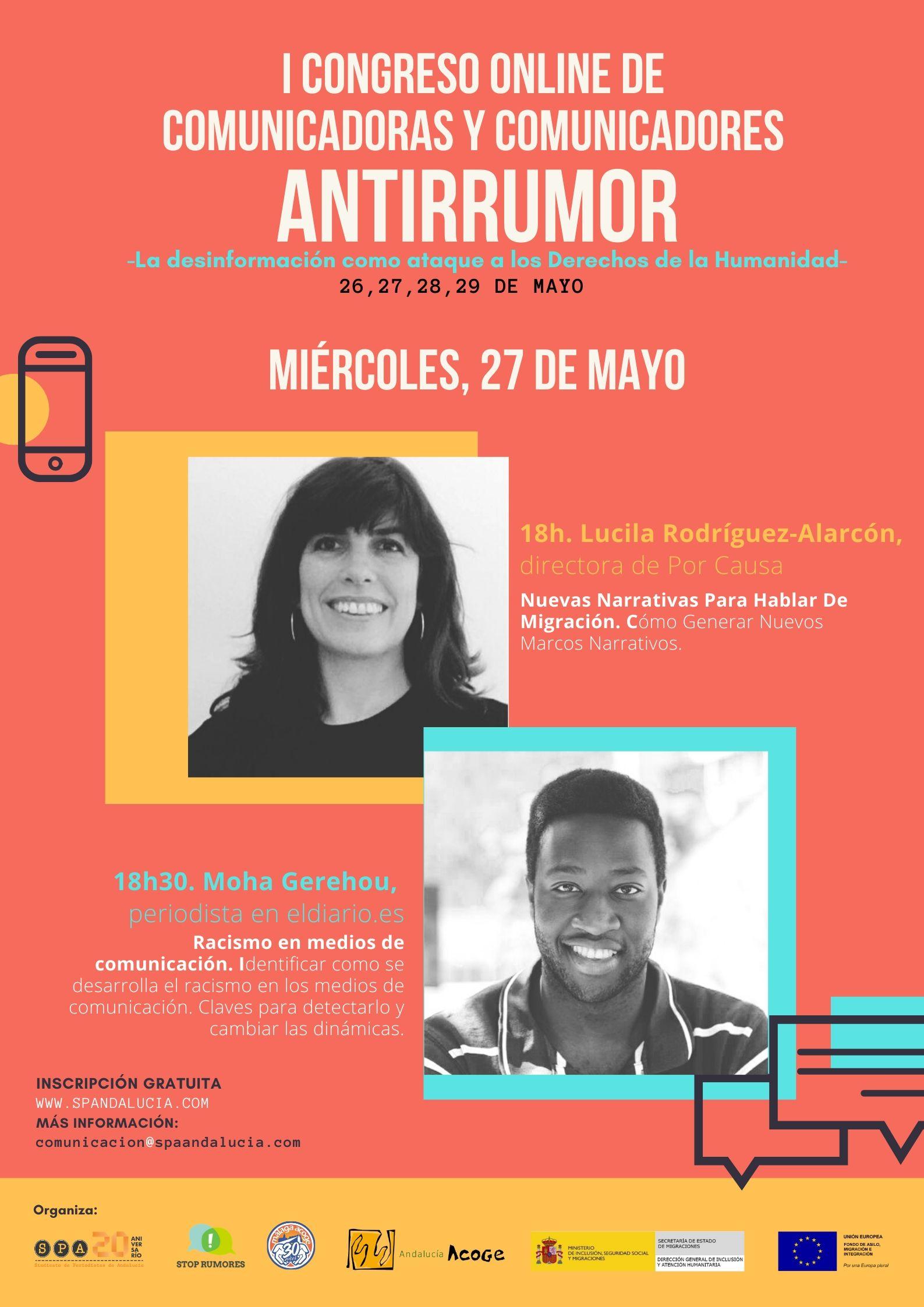 Link para unirse a la 2ª sesión del I Congreso Online para comunicadoras y comunicadores antirrumor- 27/05/2020