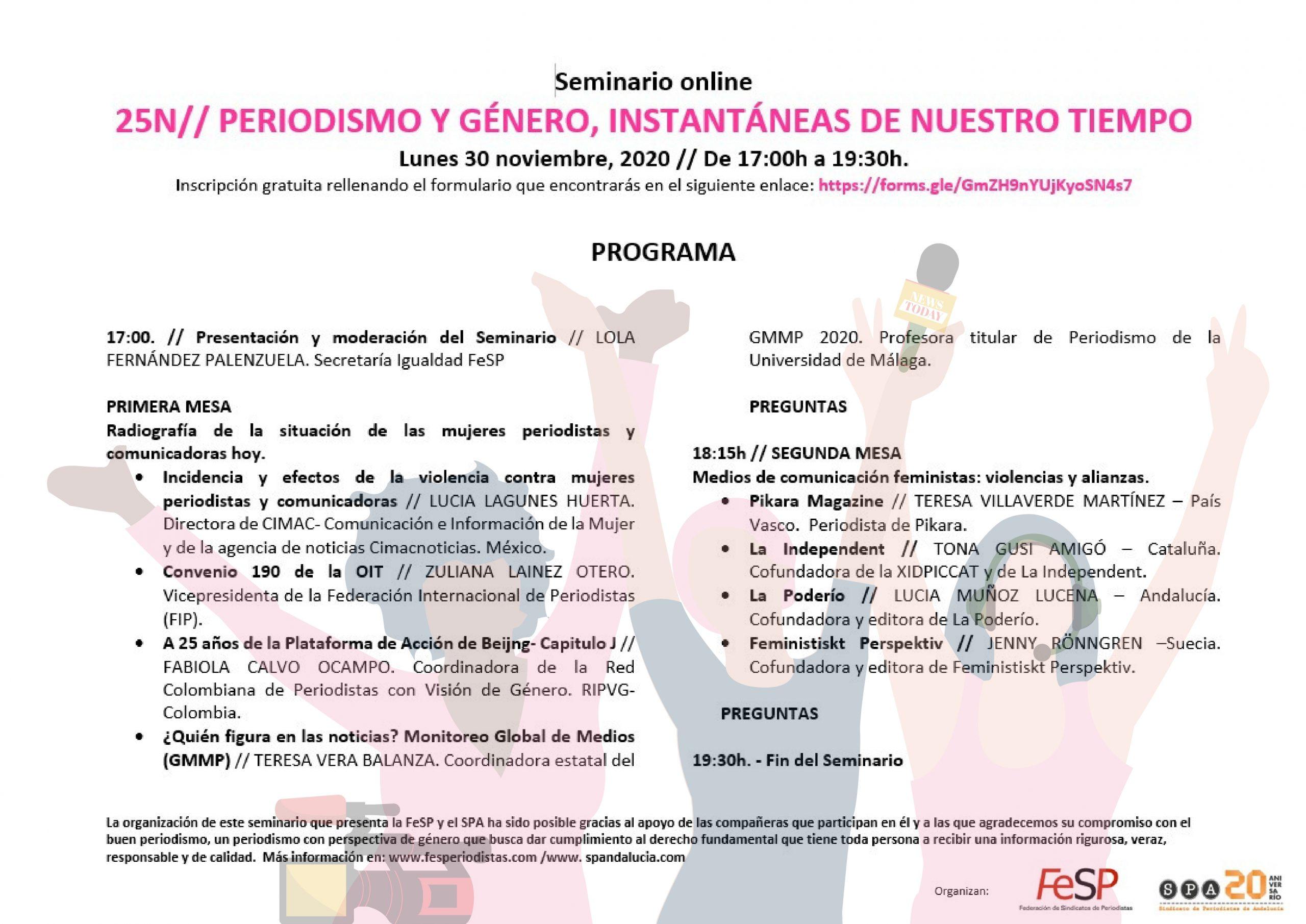 """Seminario """"Periodismo y Género. Instantáneas de nuestro tiempo"""""""