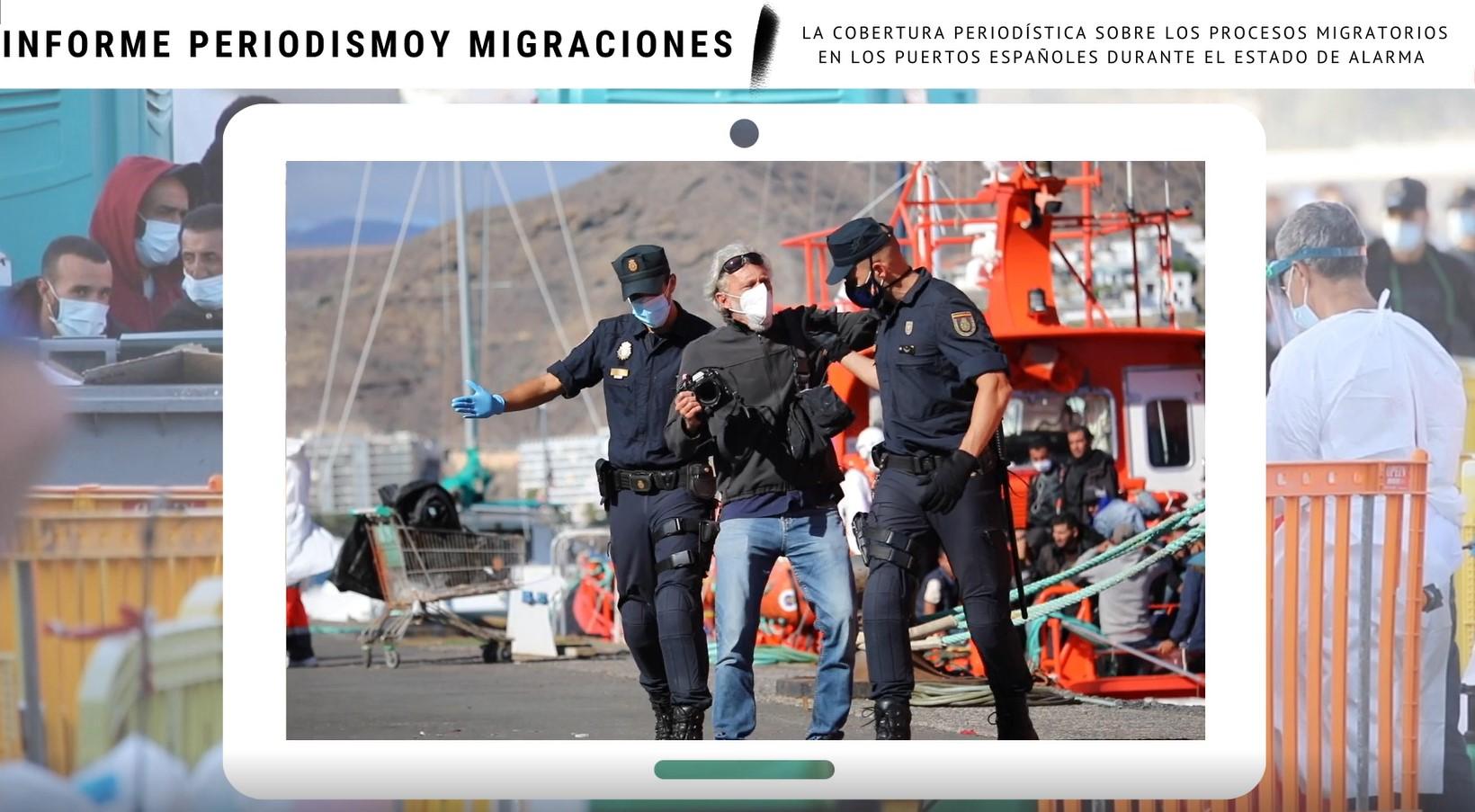 El 86% de los puertos españoles que reciben migrantes ponen trabas a la prensa