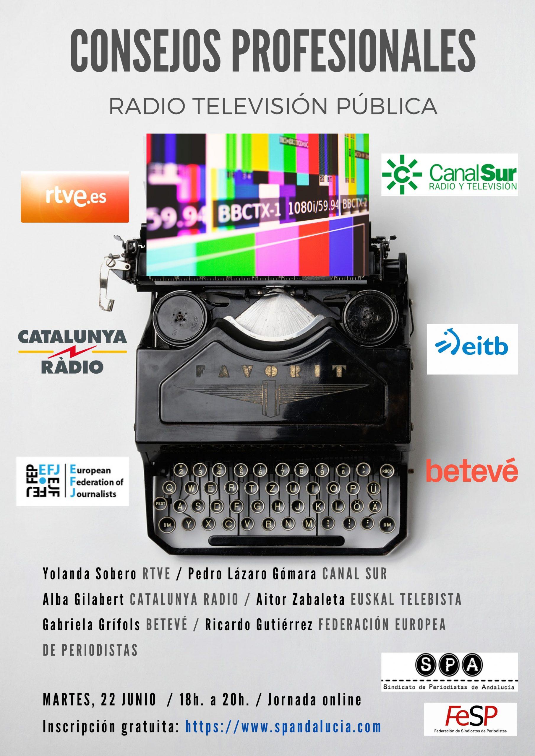 I Jornada (online) sobre Consejos Profesionales y Estatutos de Redacción en la Radio Televisión Pública