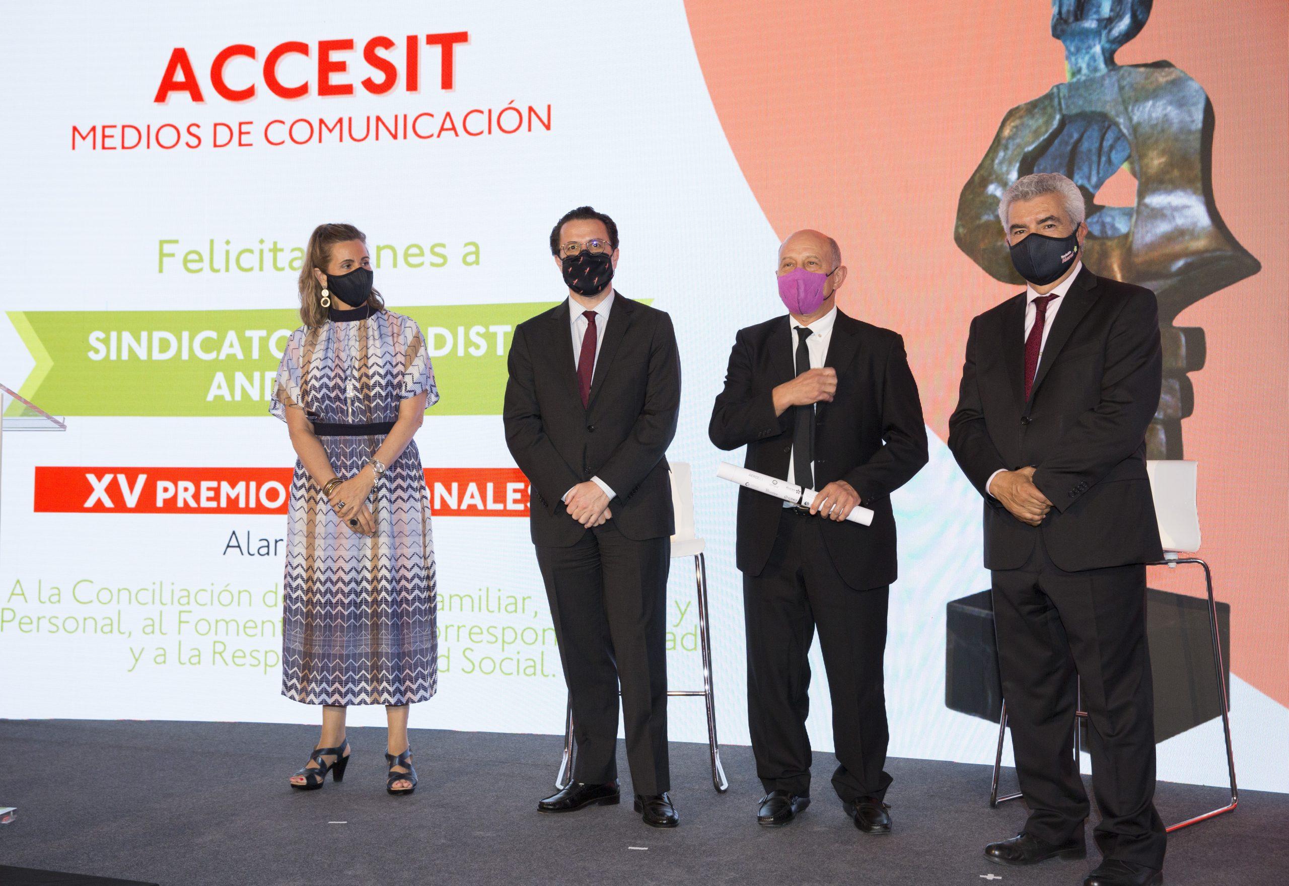 El Sindicato de Periodistas de Andalucía, premiado por su defensa del derecho a la información, la igualdad y la conciliación laboral